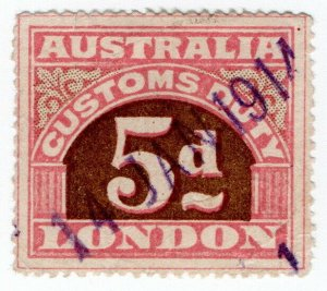 (I.B) Australia Revenue : Customs Duty 5d (small format)