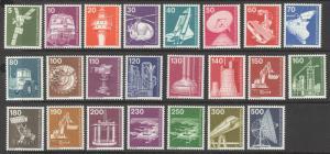 Germany Berlin Sc# 9N359-9N376 MNH 1975-1982 5pf-500pf Industry Type of Germany