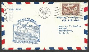 Doyle's_Stamps: Canadian Postal History: Experimental Service Flight Cover, 1935