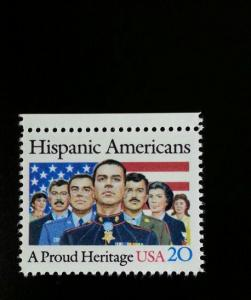 1984 20c Hispanic Americans, A Proud Heritage Scott 2103 Mint F/VF NH