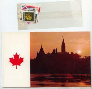 Canada - 1971 Souvenir Card #13 Stamps