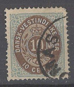 COLLECTION LOT # 2006 DANISH WEST INDIES  #10 1876 CV=$25