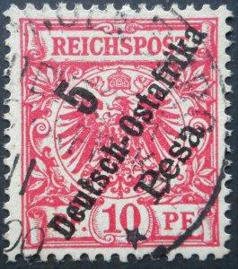 German East Africa 1896 Five Pesa with LANBENBURG postmark