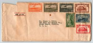 Costa Rica 1938 Airmail Cover to USA / Much Creasing - Z13562