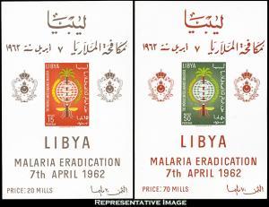 Libya Scott 218a-219a Mint never hinged.