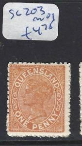 QUEENSLAND  (PP2803B) QV   1D    SG 203   MOG