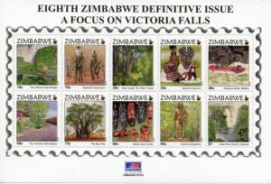 Zimbabwe 2015 MNH Victoria Falls 8th Definitive Issue 10v M/S Zambezi Trees