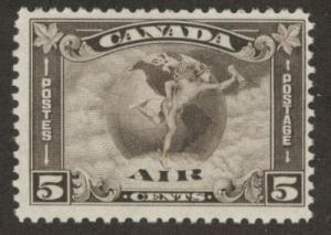 CANADA Scott C2 MH* Key Airmail Stamp CV $85 Nice ctr