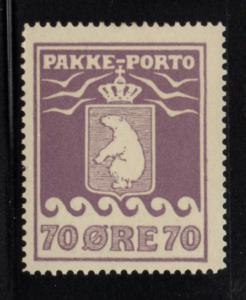 Greenland Q7a 1930 70 ore Polar Bear Parcel Post stamp mint