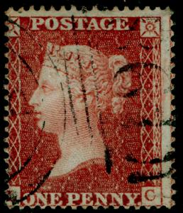 SG21, 1d red-brown, SC16 DIE II, FINE USED. Cat £65.