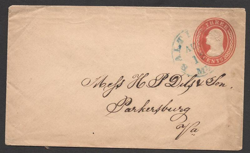 US#U10 Red, buff  - Entire - Blue Baltimore Cancel