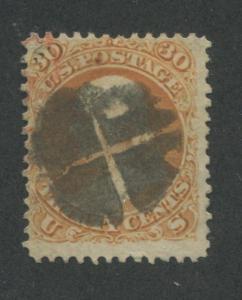 1861 US Stamp #71 30c Used Cork Canceled Average Catalogue Value $200