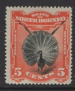 NORTH BORNEO SG72 1894 5c BLACK & VERMILION p14½-15 MTD MINT