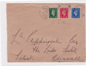 england 1937 fdc  stamps cover front only ref 12889