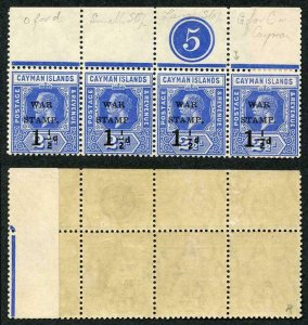 Cayman Is SG53 1.5d on 2.5d Type 14 Stamp with small stop after P