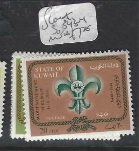 KUWAIT  (P2705B)  SCOUT  SG 343-4   MNH