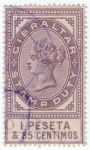 (I.B) Gibraltar Revenue : Duty Stamp 1P 85c