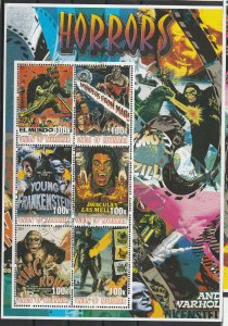 Myanmar MNH S/S Horror Movie Posters 2001