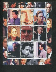 Tajikistan Commemorative Souvenir Stamp Sheet - Actor Michael Douglas