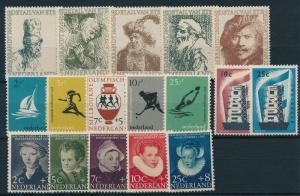 Netherlands Niederlande Pays Bas 1956 Year Set Annee Complete MNH