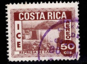 Costa Rica Scott C442 Used Surcharged stamp