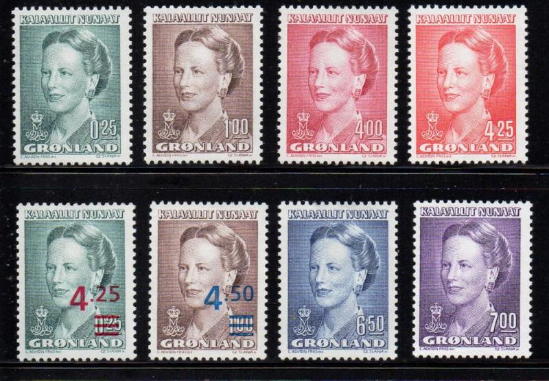 Greenland Sc 214-229 1990-96 Queen stamp set mint NH