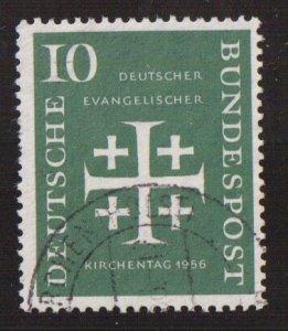 Germany  #744  used  1956  Synod  10pf