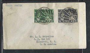 NYASALAND  COVER (P3009B) 1943  KGVI  LEOPARD  1D+1 1/2D PRINTED MATTER TO USA