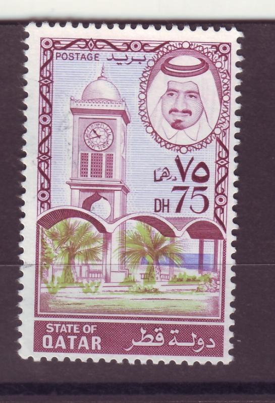 J14985 JLstamps 1973-4 qatar part of set used #360 clock tower