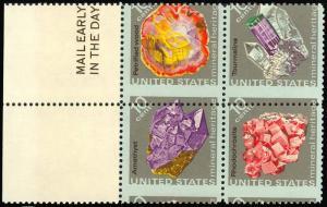 1541a Misperforated ERROR Block - RARE - 10¢ Minerals - Mint NH -- Stuart Katz