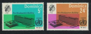 Dominica Inauguration of WHO Headquarters Geneva 2v SG#195-196