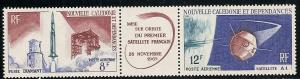 New Caledonia C45a 1966 Satellite pair MNH