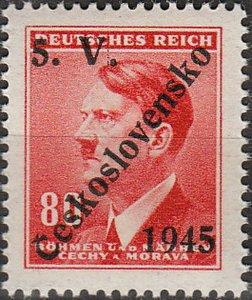 Stamp Germany Czech Bohemia O080 WW2 3rd Reich Hitler Overprint MNH