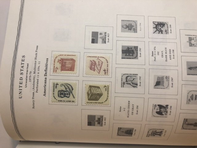Scott Minuteman Stamp Album United States 1847-1989