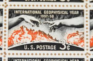 1958 sheet, Geophysical Year, Sc# 1107