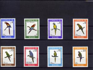 Bolivia 1981 Sc# 661/668  Parrots/Birds set (8v) MNH