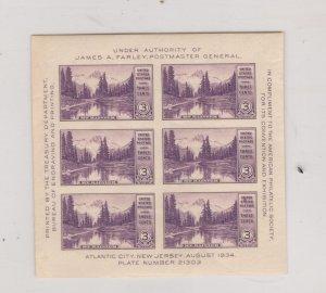 US SCOTT# 750, SOUV SHEET, MNH, OG