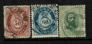 Norway SC# 30-32, Used, minor crease on 30 - S9210