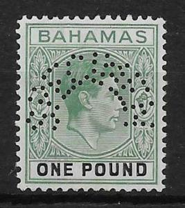 BAHAMAS SG157s 1938 £1 DEEP GREY-GREEN & BLACK SPECIMEN MTD MINT