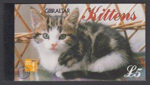Gibraltar 726k Cats Booklet MNH VF