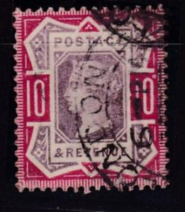 Great Britain 1887 10d car.rose & lilac Queen QV Jubilee F/ VF/Used/(o)