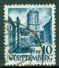 Germany - French Occupation - Wurttemberg - Scott 8N3