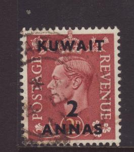 1951 Kuwait 2 Annas Opt On GB 2d Fine Used SG87