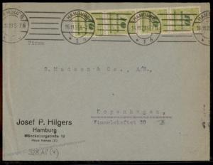 Germany 1923 November Inflation Cover Denmark 10 Billion Mark Stamps 73313