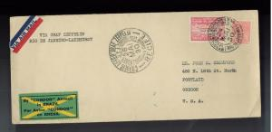 1930 Brazil Graf Zeppelin cover to USA Condor Stamp