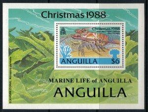 Anguilla #772* NH CV $6.75   Christmas 1988 Souvenir Sheet