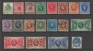 Great Britain a small used lot from the later KGV era