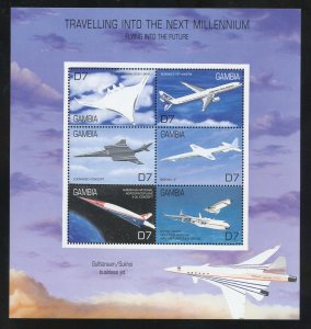 Gambia 2333  MNH Traveling into the next Millennium  Souvenir Sheet from 2000