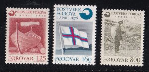 Faroe Islands  #21-23  MNH  1976 postal office