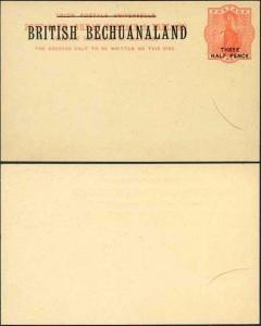 British Bechuanaland 1 1/2d O/P on QV 1d Red Foreign Postcard Mint